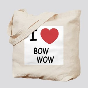 I heart bow wow Tote Bag
