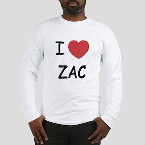 I heart zac Long Sleeve T-Shirt