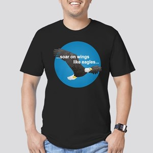 Wings Like Eagles Men's Fitted T-Shirt (dark)