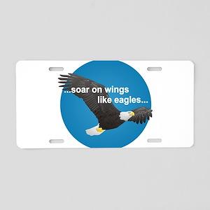 Wings Like Eagles Aluminum License Plate