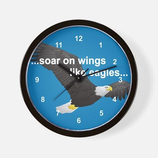Wings Like Eagles Wall Clock