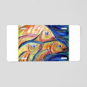 Fish, bright, Aluminum License Plate