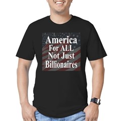 America For ALL Men's Fitted T-Shirt (dark)