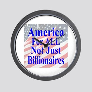 America For ALL Wall Clock