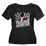 Challenge Accepted Women's Plus Size Scoop Neck Da