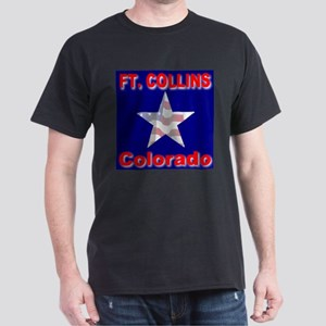 Ft. Collins Colorado Black T-Shirt