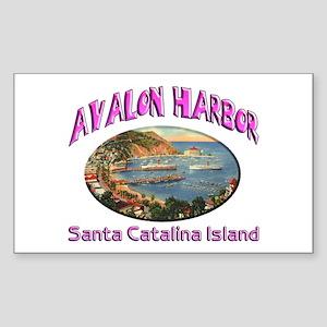Avalon Harbor Sticker (Rectangle)