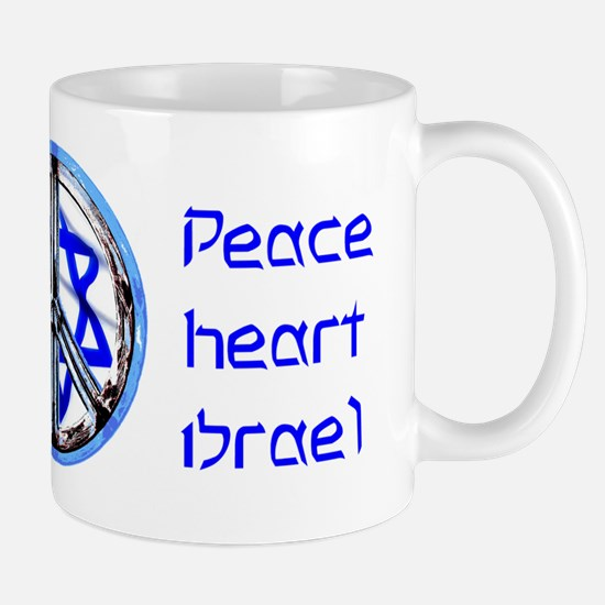 PEACE HEART ISRAEL / JEWISH Mug