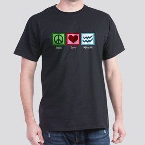 Peace Love Aquarius Dark T-Shirt
