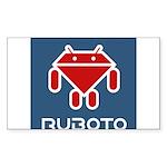 Ruboto Sticker (Rectangle 50 pk)