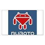 Ruboto Sticker (Rectangle 10 pk)