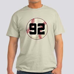 Baseball Player Number 92 Team Light T-Shirt