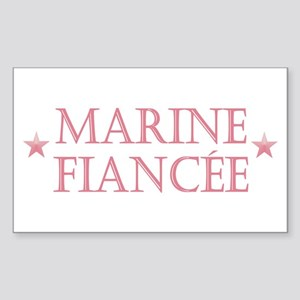 Marine Fiancee Rectangle Sticker