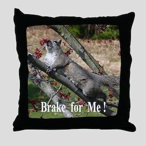 Squirrel Road Kill Throw Pillow