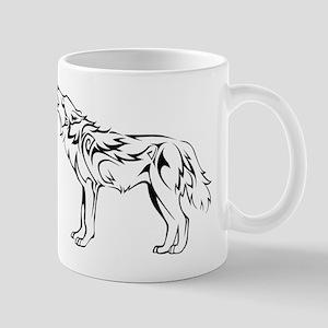 Tribal Howling Wolf Mug