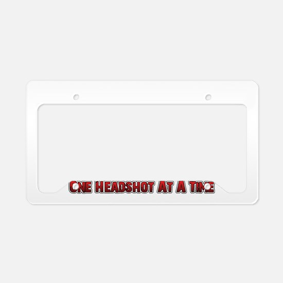 Unique One day at a time License Plate Holder