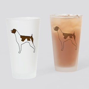 Liver Brittany Pint Glass