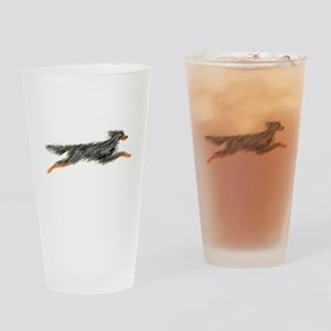 Leaping Gordon Setter Drinking Glass
