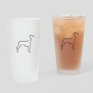 Saluki Sketch Drinking Glass