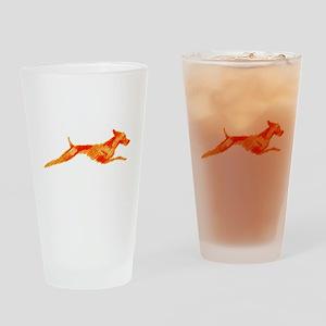 Leaping Vizsla Drinking Glass