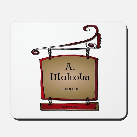 Jamie A. Malcolm Printer Mousepad