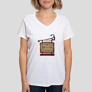 Jamie A. Malcolm Printer Women's V-Neck T-Shirt