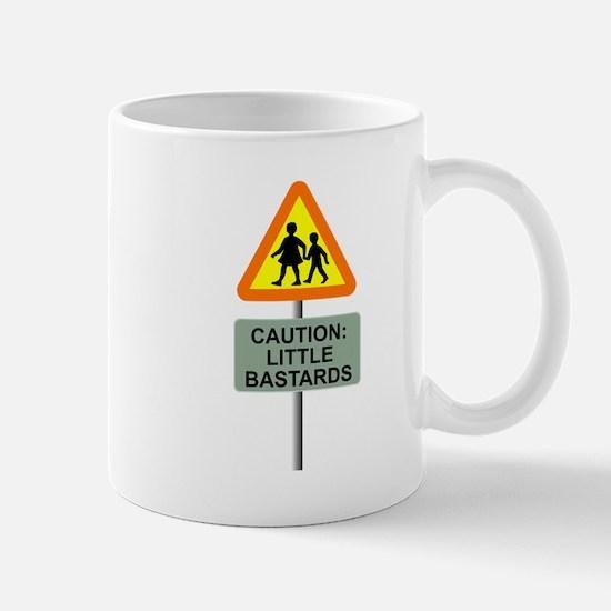 Caution Little Bastards Cross Mug