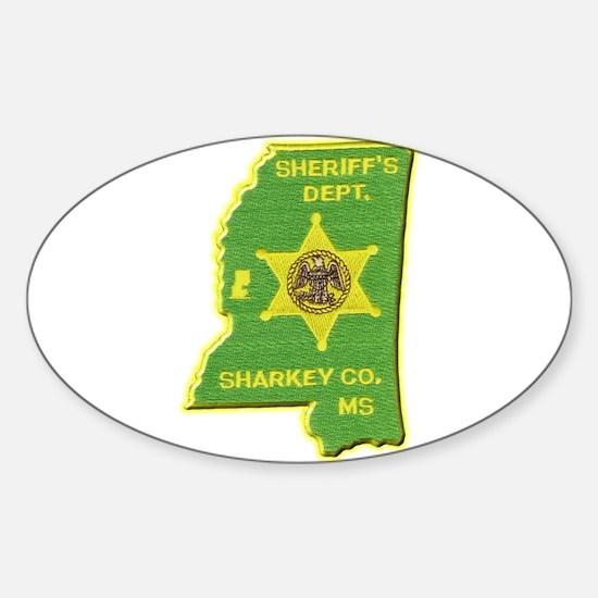 Sharkey County Sheriff Sticker (Oval)