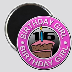Birthday Girl 16 Years Old Magnet