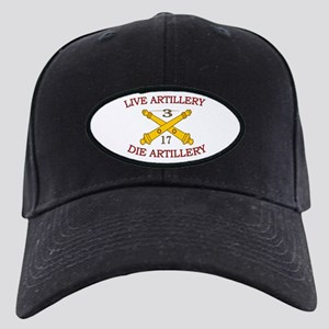 3rd Bn 17th Field Artillery Black Cap
