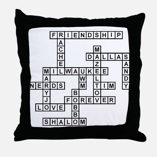 HALLFELD SCRABBLE-STYLE Throw Pillow