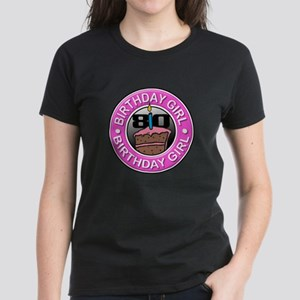 Birthday Girl 80 Years Old Women's Dark T-Shirt