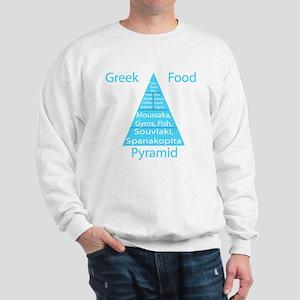 Greek Food Pyramid Sweatshirt