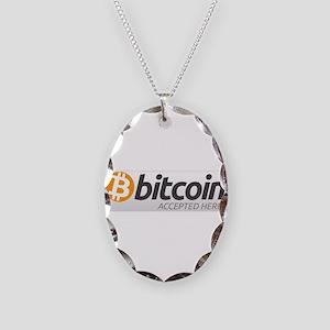 Bitcoins-7 Necklace Oval Charm