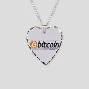 Bitcoins-7 Necklace Heart Charm