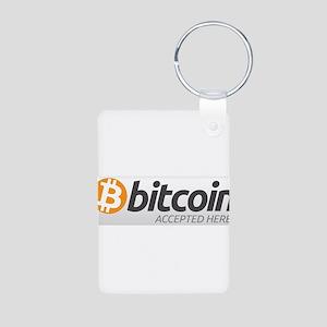 Bitcoins-7 Aluminum Photo Keychain