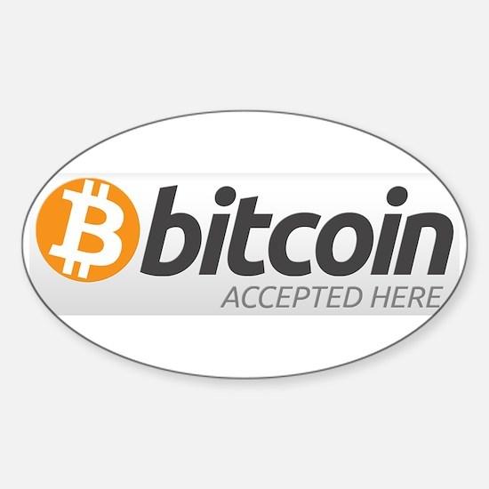 Bitcoins-7 Sticker (Oval)