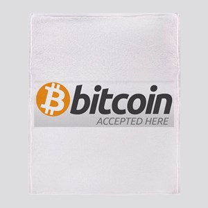 Bitcoins-7 Throw Blanket