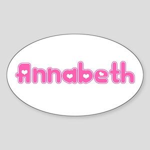 """Annabeth"" Oval Sticker"