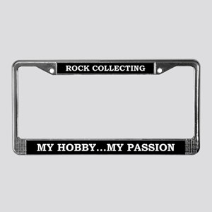 Rock Collecting License Plate Frame