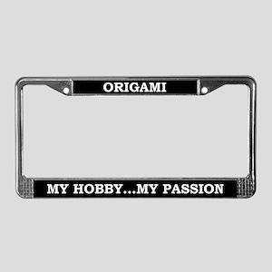 Origami License Plate Frame