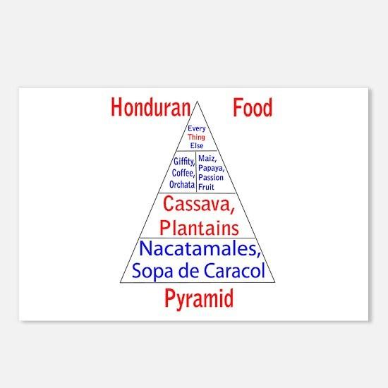 Honduran Food Pyramid Postcards (Package of 8)