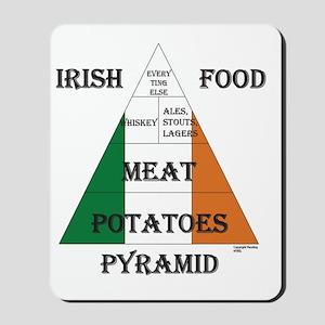 Irish Food Pyramid Mousepad