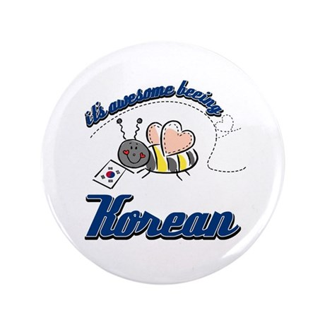 "Awesome Being Korean 3.5"" Button (100 pack)"