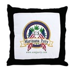 US Marijuana Party Throw Pillow