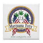 US Marijuana Party Tile Coaster
