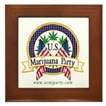 US Marijuana Party Framed Tile