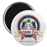 "US Marijuana Party 2.25"" Magnet (100 pack)"