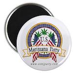 "US Marijuana Party 2.25"" Magnet (10 pack)"