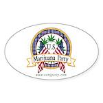 US Marijuana Party Oval Sticker
